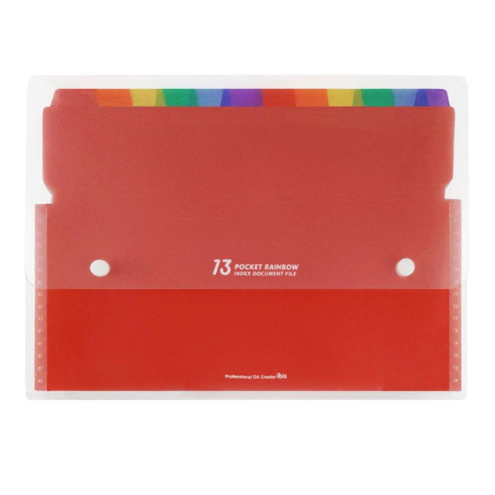 per Casa//Ufficio Con Coperchio per Etichette a Colori Raccoglitore Portatile A4 13 Tasche Scomparti Archiviazione di Carta Amministrativa Gamma di Documenti Estendibile Plastica File Pieghevole