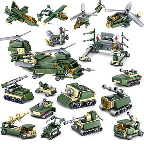 dozenla Building Blocks Kit Cannon Tank 16 in 1 Toy Set Stacking Blocks for Boys & Girls | Best Toy Gift for Kids Birthday | Top Blocks - Block 16 Inch
