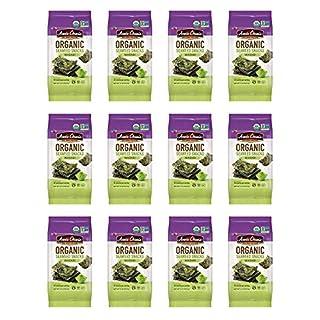 Annie Chun's Organic Seaweed, Wasabi, 0.16-oz (12 Count), Keto, Vegan, & Gluten-Free Snack, America's #1 Selling Seaweed Snacks