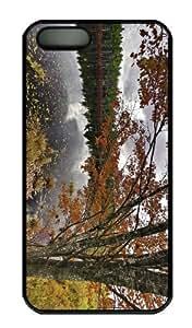 iPhone 5S Case - Customized Unique Design Nova Scotia Canada Autumn New Fashion PC Black Hard