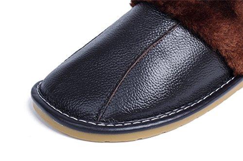 Femme à Flat AgeeMi Pantoufles Shoes Chaussures Plat Coton Noir t5x5nOqwA