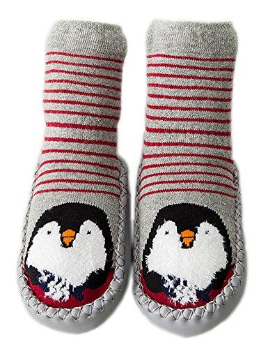 Unisex Cartoon Baby Anti Slip Walker Infant Socks Toddler Shoes Like Penguin S ()