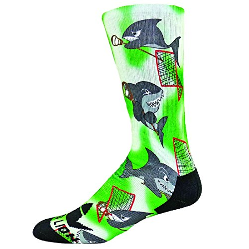 Red Lion Lax Sharks Sublimated Lacrosse Crew Socks