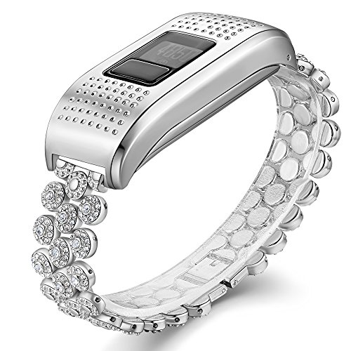 for Garmin Vivofit 3 Band and Garmin Vivofit JR Bands, Watch Accessories Metal Wristband for Garmin Vivofit 3 Vivofit JR Band, Silver(No Tracker)