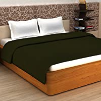 Story@Home Super Soft Plain Polar Fleece Double Blanket - Green