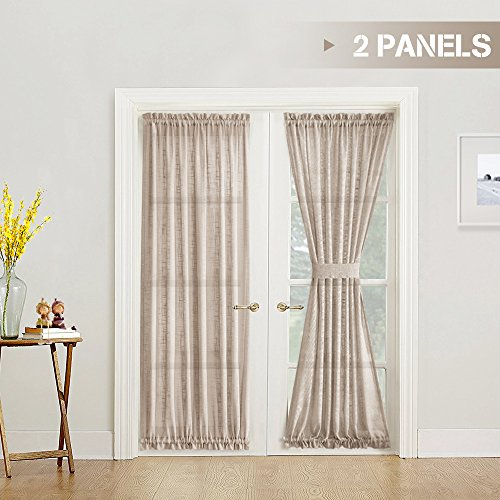 pare price to double door curtains