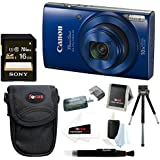 Canon PowerShot ELPH 190 IS 20 MP Digital Camera (Blue) w/16GB Accessory Bundle
