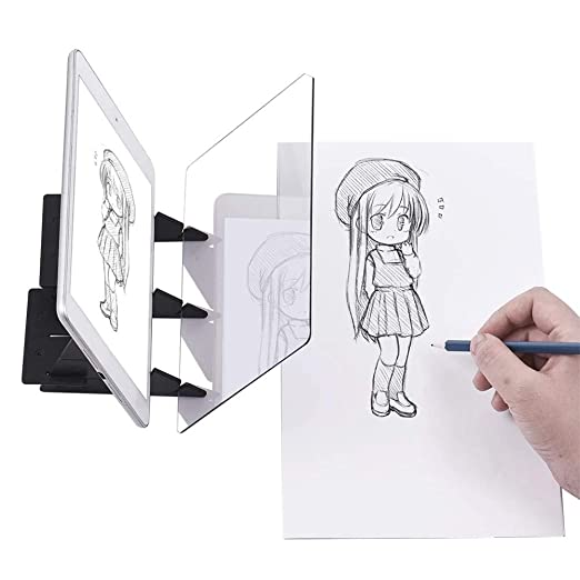 Proyector de dibujo óptico portátil Pintura ultrafina Tablero de dibujo Tablero de dibujo Tablero de tablero Tableros de panel Panel Craft Herramienta ...