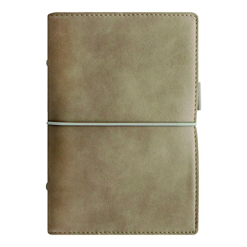 (Filofax 2018 Domino Soft Organizer, Personal (6.75 x 3.75), Soft Fawn, Planner with to do and Contacts Refills, Indexes and notepaper (C022580-18))