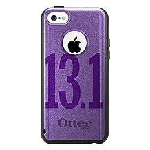 CUSTOM Black OtterBox Commuter Series Case for Apple iPhone 5C - Purple 13.1 Half Marathon Run