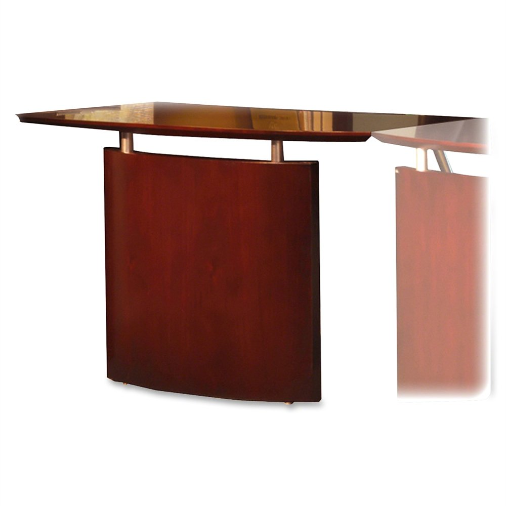 Mayline NBDGRCRY Napoli Right Hand Bridge for use with Credenza or Desk, sold separately, Sierra Cherry Veneer