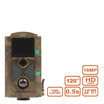 Wildlife Trail Camera Scout Guard Cámara De Caza 1080P 16MP 120 Grados Ángulo PIR Sensor Trampas