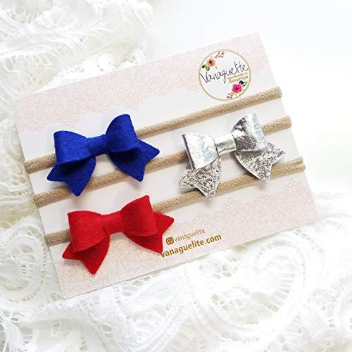Royal Blue Glitter Hair Bows  Baby Headband  Hair Bow on Nylon Band  Toddler Hair Clip  Glitter Hair Piece  School Girl Bow