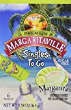 Margaritaville Singles to Go Water Drink Mix Flavored Non-Alcoholic Powder Sticks, Margarita, 6