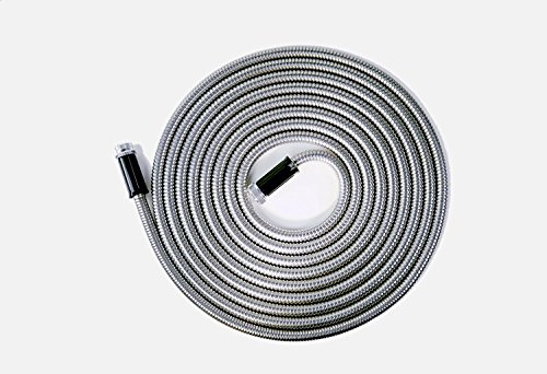 Tardigrade Steel Hose (50' 304 Stainless Steel Garden Hose - As Seen On TV - Lightweight, Kink-Free, and Stronger Than Ever, Durable and Easy to Use
