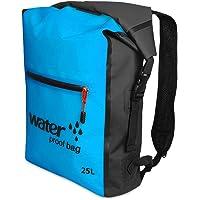 Decdeal 25L Outdoor Waterproof Dry Bag Roll Top Floating Backpack for Kayaking Rafting Boating River Trekking