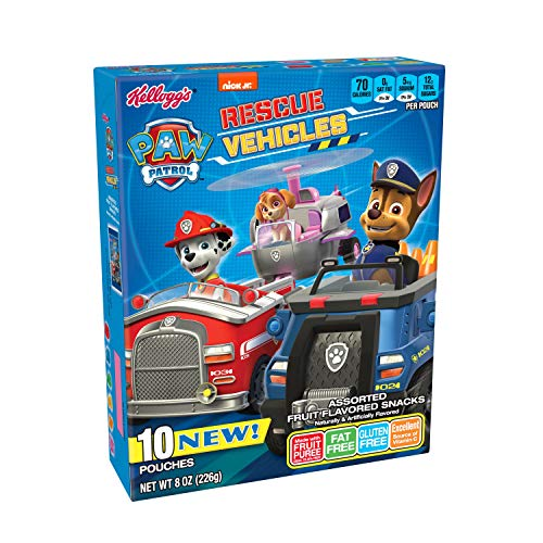 Kellogg's Paw Patrol Rescue Racers, Fruit Flavored Snacks, 8 ()