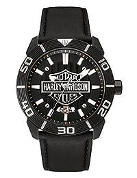 Harley Davidson Embossed Bar & Shield Leather Strap 78B136