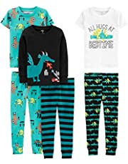Simple Joys by Carter's - Pijama dos piezas - Juego de pijama de algodón de ajuste cómodo de 6 piezas. - para niño