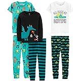Simple Joys by Carter's Boys' Toddler 6-Piece Snug Fit Cotton Pajama Set, Dragons/Igauana 5T