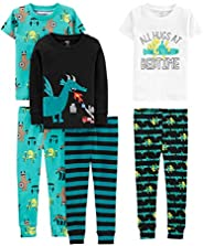 Simple Joys by Carter's Baby, Little Kid, and Toddler Boys' 6-Piece Snug Fit Cotton Pa
