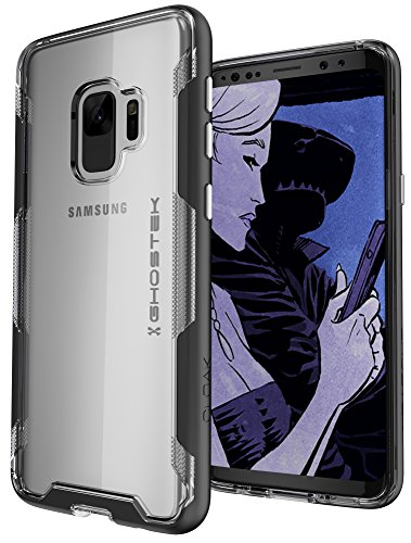 Ghostek Cloak Shockproof Armor Case Wireless Charging Compatible with Galaxy S9 - Black