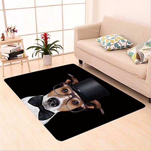 Sophiehome skid Slip rubber back antibacterial Area Rug jack russell terrier dog isolated on black background 363086648 Home (Mary Poppins Dog Costume)