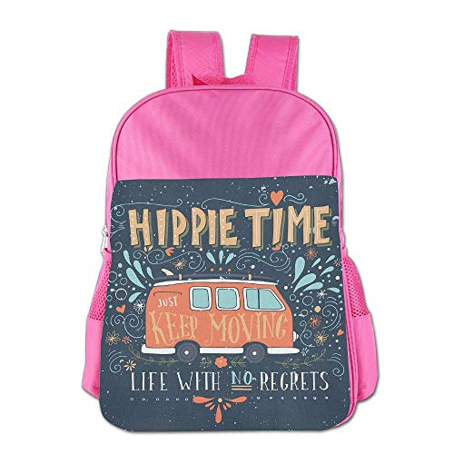 Xyou Teens Girl Boy Kids Satchel Vintage Hippie Time A Mini Van Student Travel Shoulder Bag Classic Basic Casual Daypack