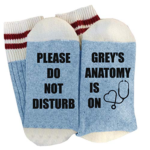 Womens Funny Socks Please Do Not Disturb Greys Anatomy is on Novelty Crew Casual Socks