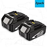 Sytechz 5000mAh LXT Lithium Battery Pack for Makita 18 Volt Cordless Power Tools BL1830 BL1840 BL1850 LXT-400 194204-5 - 2 Pack