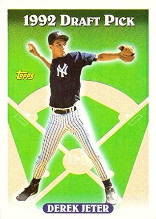 1993 Topps Baseball 98 Derek Jeter Rookie Card His Official Topps Rookie Card Near Mint To Mint