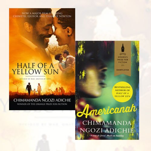 Half of a Yellow Sun and Americanah 2 Books Collection Set By Chimamanda Ngozi Adichie