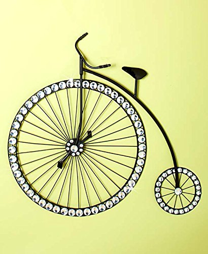 High Wheel Bicycle Crystal Beaded Wall Artwork Plaque Wall Hanging Home Decor Accent Decor