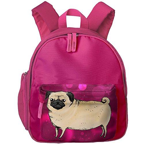 Pugster Puppy (Casual Lightweight Canvas Backpacks Lovely Dog Puppy Pug Bookbag Shoulder Bag School Backpack For Kids)