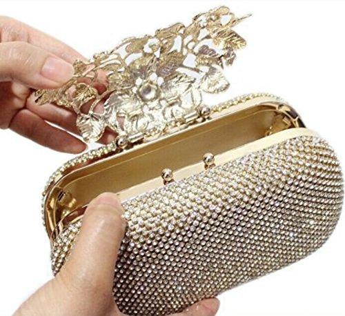 De De De Bolso Mano De Oro Cartera Diamante Diamante De Noche De Broche Única Baile Cristal Partido Novia fqwOdB1f