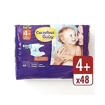 Carrefour Bebé Ultra Tamaño Seca 4+ Pañales Paquete Esencial ...