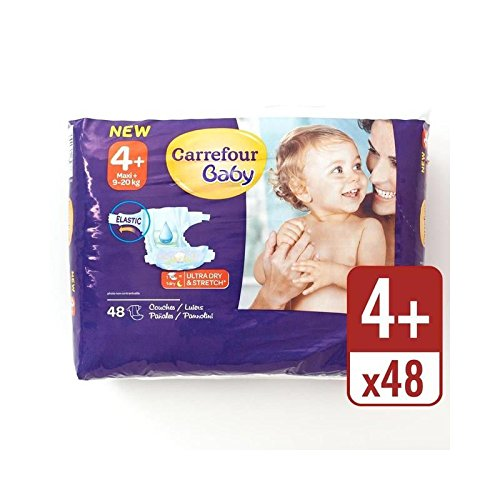 Amazon.com   Carrefour Baby Ultra Dry Size 4+ Nappies Essential Pack 48 per  pack - Pack of 6   Baby 1c53cb1a405