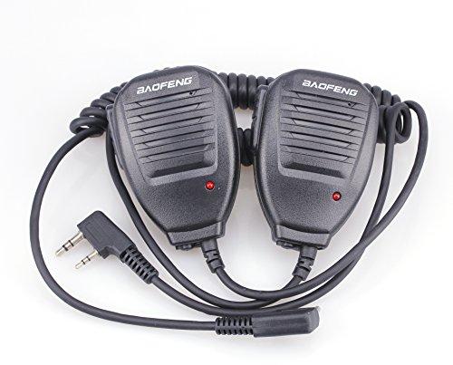 2 × Original Universal Handheld BAOFENG UV-5R Plus/UV-5RE Plus/UV-5RA/UV-5RE/BF-888S Speaker-mic for dual band radio