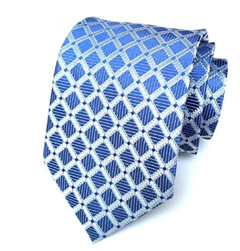 Wehug Hot Men's Ties 100% Silk Tie Woven Necktie Jacquard Neck Ties LG0020