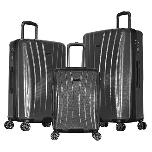Olympia Athena 3-Piece Hardcase Spinner Set, Gray (Olympia Usa Corsair Expandable Hardcase Spinner Set Reviews)