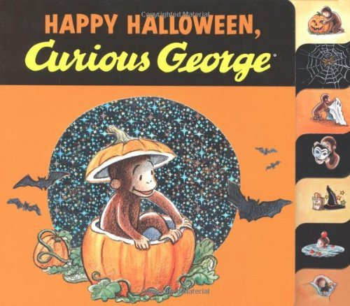 Happy Halloween, Curious George tabbed board -