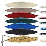 BenefitUSA Round Replacement Canopy Top Cover for 11.5' Rome Cantilever Patio Umbrella Outdoor Sunshade (Black)