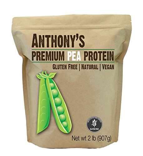 Pea Protein (84% Protein) from Germany by Anthony's (2lb), Plant Based & Gluten-Free