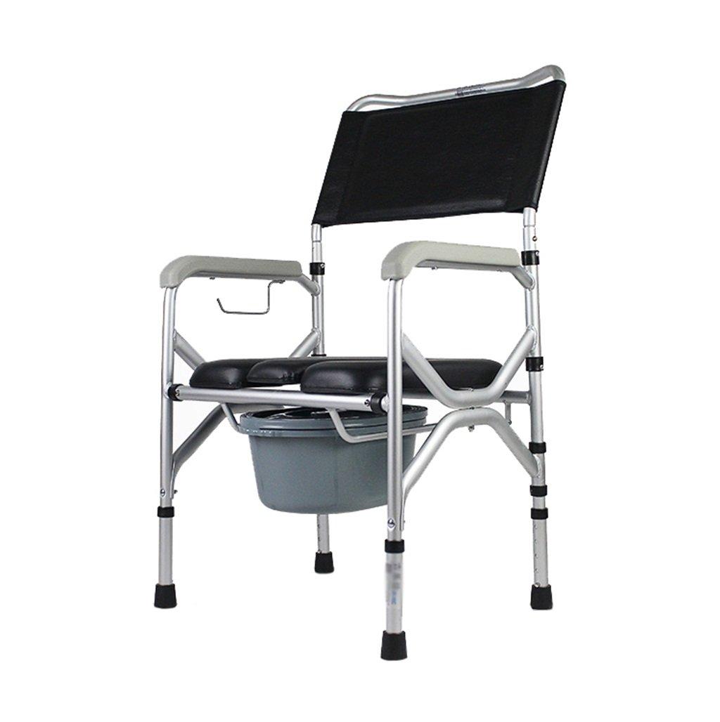 バスルームシャワー付きスツール妊娠中の女性のトイレシート障害者トイレの椅子滑り止め手すり頑丈で耐久性のあるポータブル折り畳み式高齢者の人の高さ調節可能な椅子の椅子Max.175kg B07DL5G5Q9