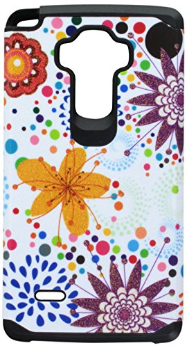 Asmyna Cell Phone Case for LG LS770, LG H740 - Retail Packaging - Flower Bud/Bubble/Black