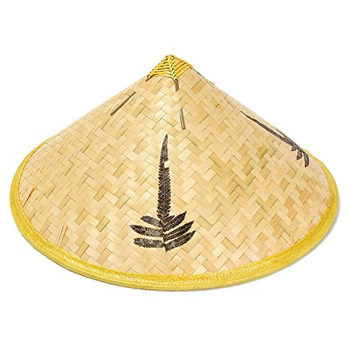 Handmade Bamboo Woven Hat Cap Tourism Rain Gear Costume Cone Conical Farmer Asian Chinese Country For Performance ()
