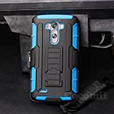 LG G3 Case, Cocomii® [HEAVY DUTY] LG G3 Robot Case **NEW** [ULTRA FUTURE ARMOR] Premium Belt Clip Holster Kickstand Bumper Case - Full-body Rugged Protective Cover for LG G3 (Black/Blue) ★★★★★