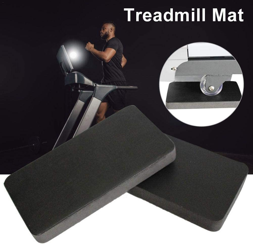 wangza 6PCS Treadmill Mat Noise Reduction Non Slip Thick Rubber High Density Shock Absorption Exercise Equipment Mat for Floor Carpet Protection