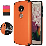Moto G6 Play Case (NOT FIT Moto G6),Moto G6 Forge Magnetic Car Case,NiuBox Armor Gear Textured Slim Fit Anti-Slip Shock Absorption Protective Phone Case Cover for Motorola G6 Play (2018) - Orange