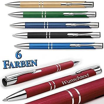 Kugelschreiber Metallkugelschreiber mit Gravur Geschenk hellblau